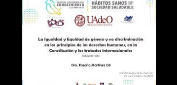"""Estudiantes de la Unidad Regional El Fuerte participan en la conferencia virtual """"Igualdad vs Equidad"""""""