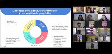 """Liderazgo consciente: nuestro gran llamado"""": con casi 30 años de experiencia académica y profesional, la Dra. Claudia Félix diserta conferencia a la Comunidad Lince"""