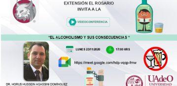 Invitación a la videoconferencia: El alcoholismo y sus consecuencias