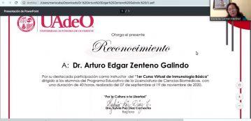 Culmina con éxito el Primer Curso Virtual de Inmunología Básica de la UAdeO