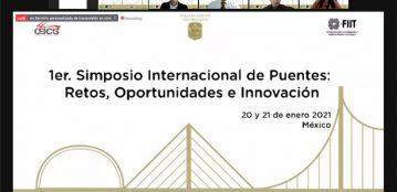 Destacan estudiantes de Ingeniería Civil de la Extensión Sinaloa de Leyva en 1er. Simposio Internacional de Puentes: alumno es seleccionado como embajador del evento