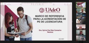 UAdeO trabaja para mantener la calidad en el 100 por ciento de sus Programas Educativos de Licenciatura: Rectora, Dra. Sylvia Paz Díaz Camacho, al sostener reunión de trabajo para esta finalidad