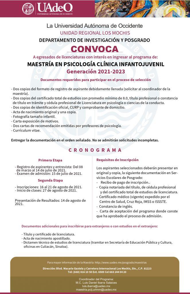 Maestría En Psicología Clínica Infantojuvenil Universidad Autónoma De Occidente