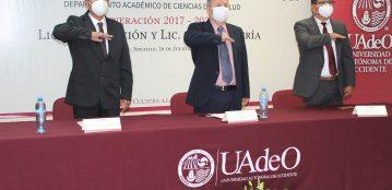 Se gradúan estudiantes Linces de las Licenciaturas de Enfermería y Nutrición en la Unidad Regional Guasave