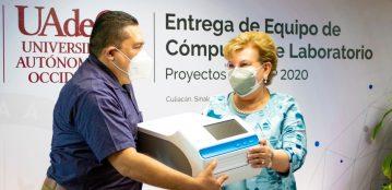 Profesores de la UAdeO reciben equipo de cómputo y laboratorio obtenidos a través de proyectos de las convocatorias PRODEP 2020