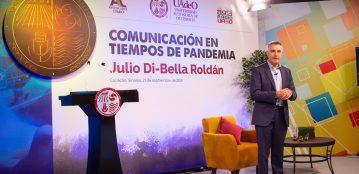 """El COVID-19 y la tecnología transformaron la manera de comunicarnos: Julio Di-Bella Roldán en la conferencia """"Comunicación en Tiempos de Pandemia"""", impartida desde el foro de Antena Lince UAdeO"""