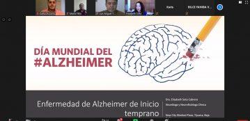 """Disertan la conferencia virtual titulada """"Enfermedad de Alzheimer de inicio temprano y sus variantes"""" en la Unidad Regional El Fuerte"""